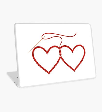Stitched Hearts Laptop Skin