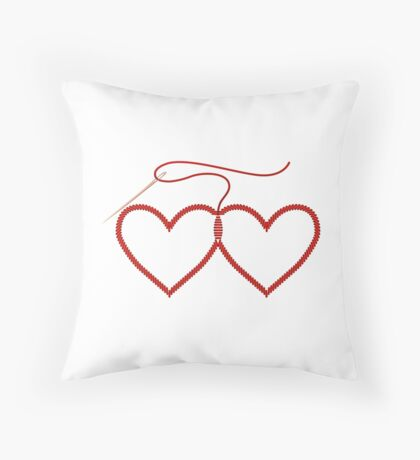 Stitched Hearts Floor Pillow