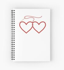 Stitched Hearts Spiral Notebook
