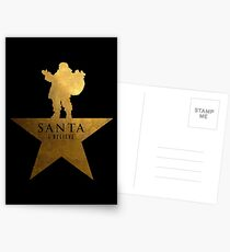 Santa Christmas Star Hamilton Parody Postcards