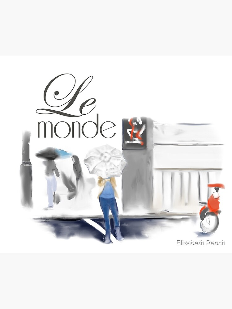 Le Monde - Montreal Streets in the Rain by elizabethreoch