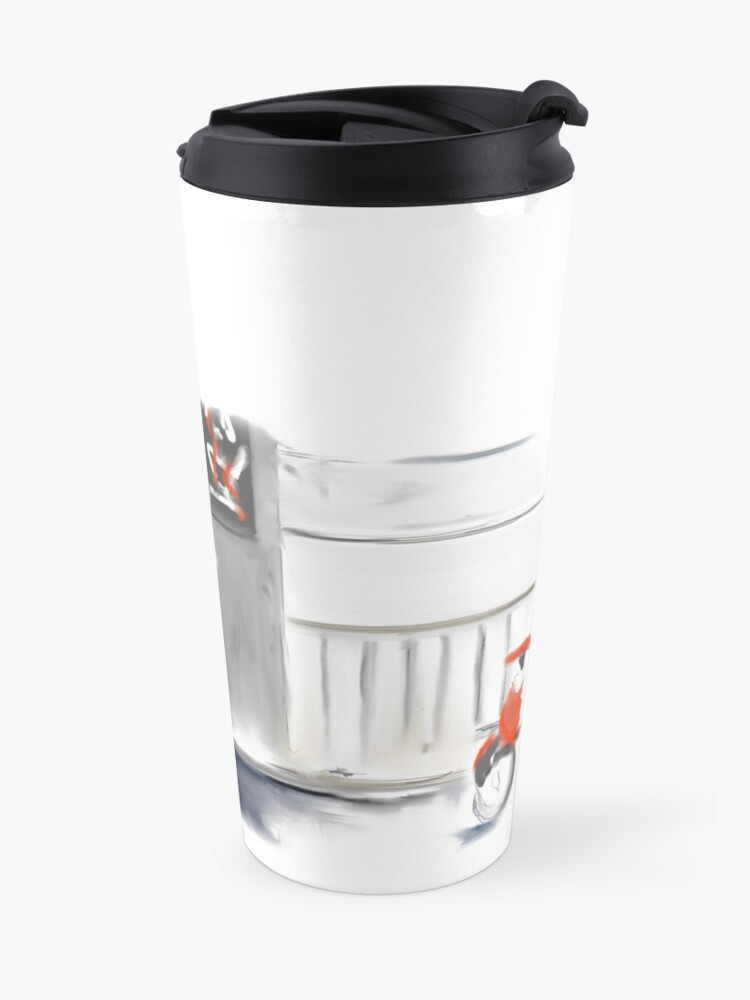 Alternate view of Le Monde - Montreal Streets in the Rain Travel Mug