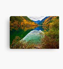 Autumn Reflection in Mirror Lake, Jiuzhaigou 2 Canvas Print