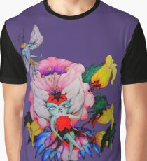 Flower Fly Graphic T-Shirt