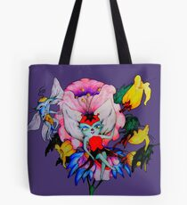 Flower Fly Tote Bag