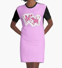 Cows in Romance Graphic T-Shirt Dress