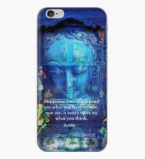 Buddha Happiness quote iPhone Case