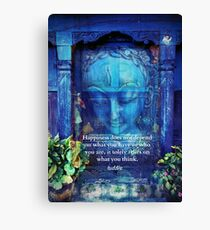 Buddha Happiness quote Canvas Print