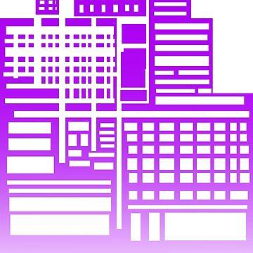 8-Bit City- Purple Version by sketchbooksage