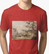A Sandpit by Paul Sandby Tri-blend T-Shirt