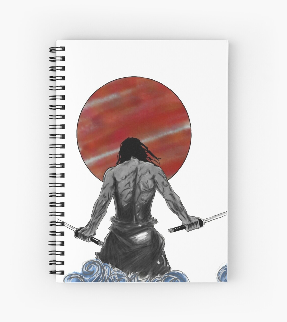 "Manga Samurai Spiral Notebooks By Jiggymiggy: ""Samurai"" Spiral Notebooks By Goddess-Freyja"