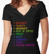 Seasons of Love rainbow Women's Fitted V-Neck T-Shirt