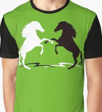 Two horses Graphic T-Shirt