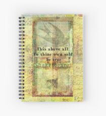 Shakespeare Quote from Hamlet Spiral Notebook