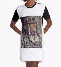 Snowy Man Graphic T-Shirt Dress