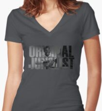 Original Junglist Women's Fitted V-Neck T-Shirt