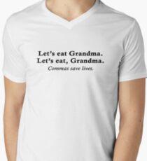 Let's eat Grandma Mens V-Neck T-Shirt