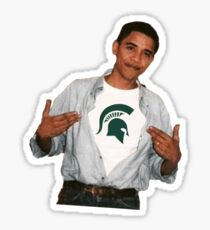 Obama Michigan State Sticker