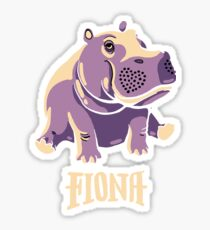 Fiona The Hippo Shirt #TeamFiona Merch, Cute Baby Hippo  Sticker