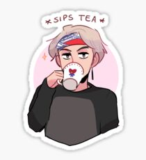 MIC DROP: V SIPPIN TEA Sticker