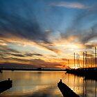 Long Beach Harbor Sunset by Jonicool