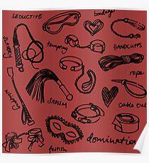 bdsm pattern red Poster