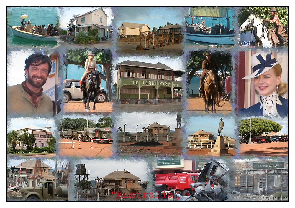 'Collage of photos from the Australia Movie' by bowenite