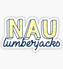 NAU Lumberjacks- Triangles Pattern Sticker