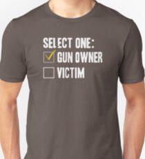 Popular Gun owner  funny shirts not a victim VH547 Best Product Unisex T-Shirt