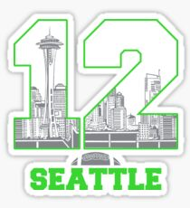 12th Man Seattle Football Sticker