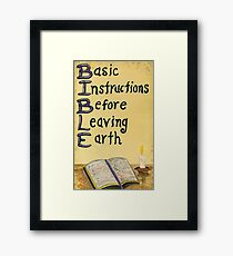 Meaning Of The Bible Framed Print