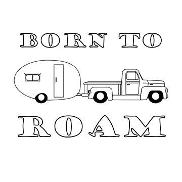 Born to Roam- 1940's Panel Van & Airfloat in Black
