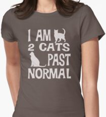 Christmas Gift I am 2 cats past normal funny cat DR107 Trending T-Shirt