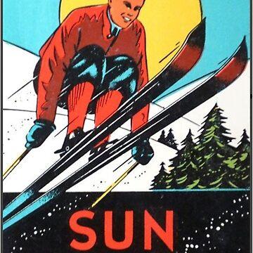 Calcomanía de viaje vintage Sun Valley Idaho Skiing de hilda74
