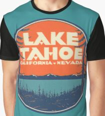 Lake Tahoe California Nevada Vintage State Travel Decal Graphic T-Shirt