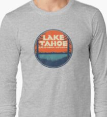 Lake Tahoe California Nevada Vintage State Travel Decal Long Sleeve T-Shirt