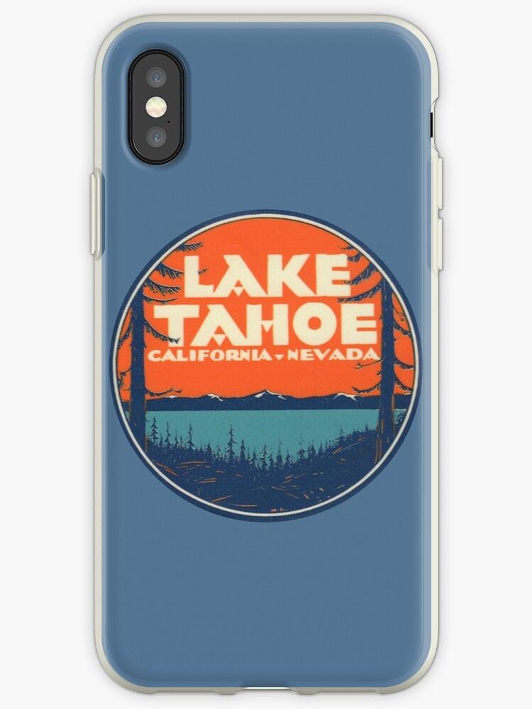 Lake Tahoe California Nevada Vintage State Travel Decal by hilda74