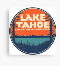 Lake Tahoe California Nevada Vintage State Travel Decal Canvas Print