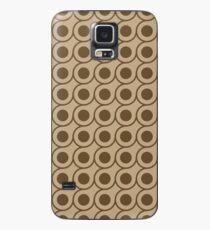 Brown Circle Repeating Pattern Case/Skin for Samsung Galaxy