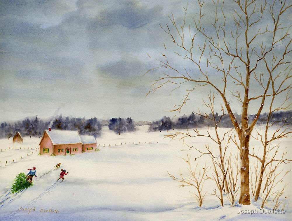 Bringing Home the Tree by Joseph Ouellette