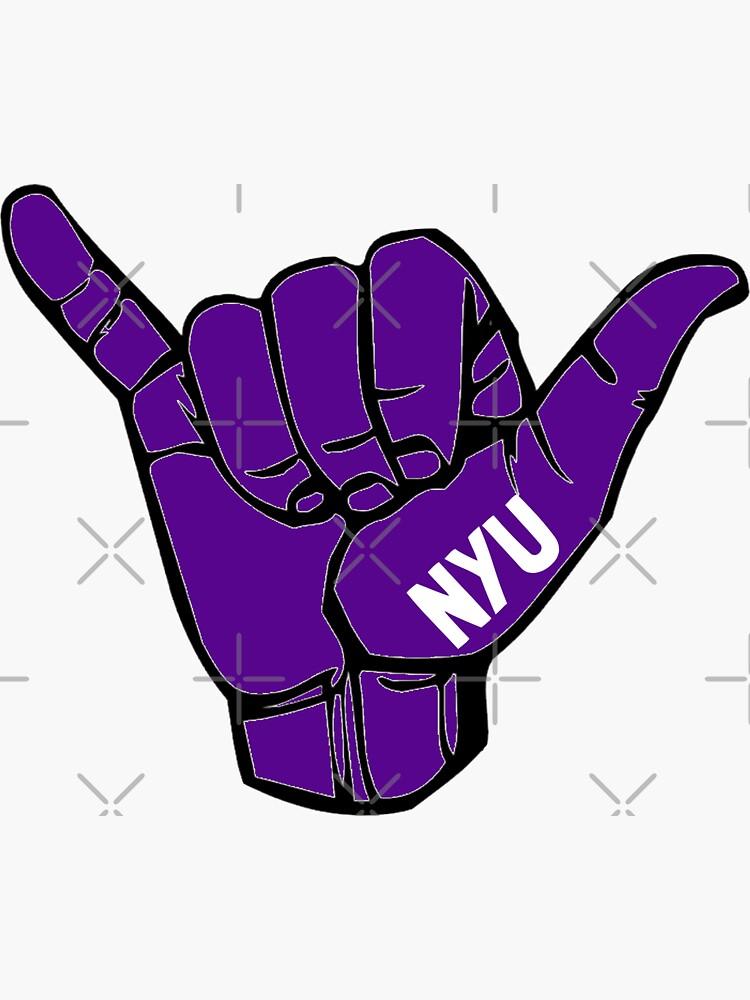 NYU Hang Loose de stickerr
