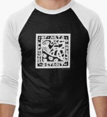 Detroit Society of Arts and Crafts Logo - White Men's Baseball ¾ T-Shirt