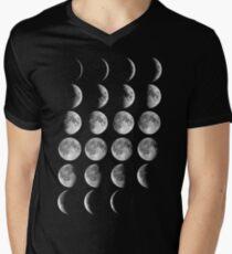 Moon Phases Men's V-Neck T-Shirt