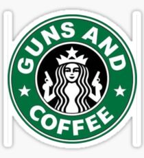 Guns and coffee Sticker