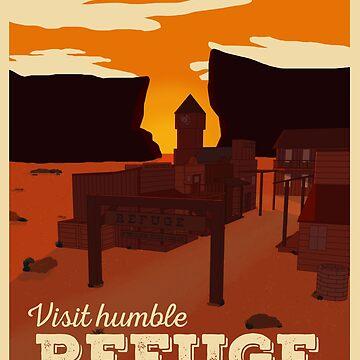 Refuge Travel Poster by atlasbeetles