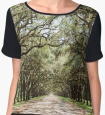 Savannah Georgia on Film Women's Chiffon Top