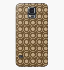 Brown Inverted Circle Pattern Case/Skin for Samsung Galaxy