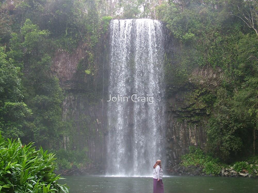 Rainforest Water Fall by John Craig