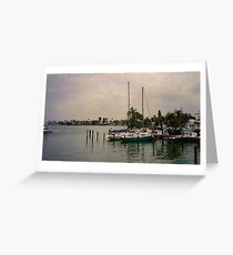 Floridian Boat Dock Greeting Card