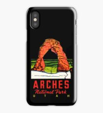 Arches National Park Utah Moab Vintage Travel Decal iPhone Case/Skin